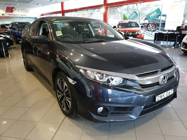 Demo Honda Civic 10th Gen MY17 VTi-L, 2017 Honda Civic 10th Gen MY17 VTi-L Cosmic Blue 1 Speed Constant Variable Sedan