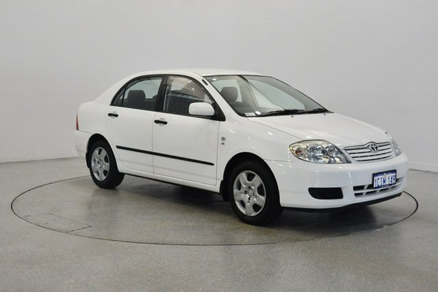 Used Toyota Corolla ZZE122R 5Y Ascent, 2006 Toyota Corolla ZZE122R 5Y Ascent White 4 Speed Automatic Sedan