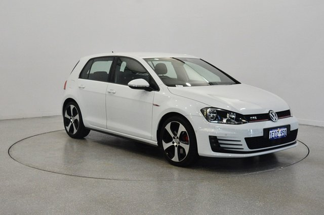 Used Volkswagen Golf VII MY14 GTI DSG, 2014 Volkswagen Golf VII MY14 GTI DSG Pure White 6 Speed Sports Automatic Dual Clutch Hatchback