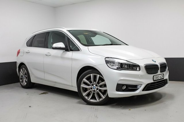 Used BMW 220i F45 Luxury Line Active Tourer Steptronic, 2015 BMW 220i F45 Luxury Line Active Tourer Steptronic Mineral White 8 Speed Automatic Hatchback
