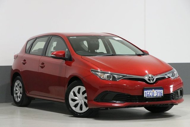 Used Toyota Corolla ZRE182R MY15 Ascent, 2016 Toyota Corolla ZRE182R MY15 Ascent Red 7 Speed CVT Auto Sequential Hatchback