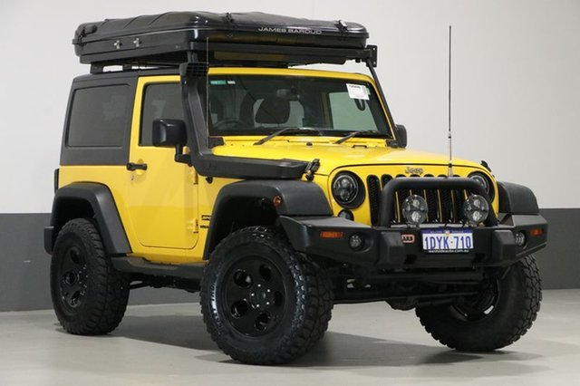 Used Jeep Wrangler JK MY15 Sport (4x4), 2015 Jeep Wrangler JK MY15 Sport (4x4) Yellow 6 Speed Manual Softtop