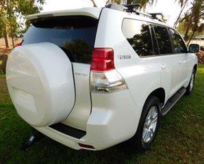 2011 Toyota Landcruiser Prado GRJ150R Kakadu White 5 Speed Sports Automatic Wagon.