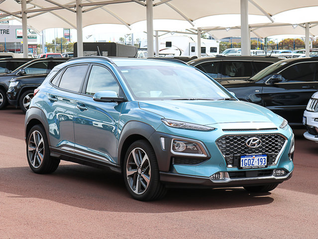 Demo Hyundai Kona OS Highlander (FWD), 2017 Hyundai Kona OS Highlander (FWD) Ceramic Blue 6 Speed Automatic Wagon