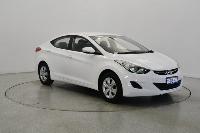 Used Hyundai Elantra MD2 Active, 2012 Hyundai Elantra MD2 Active Creamy White 6 Speed Sports Automatic Sedan