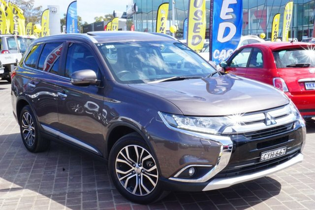 Used Mitsubishi Outlander ZK MY16 Exceed 4WD, 2015 Mitsubishi Outlander ZK MY16 Exceed 4WD Brown 6 Speed Constant Variable Wagon