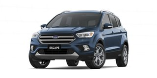 2018 Ford Escape ZG 2019.25MY Titanium PwrShift AWD Blue 6 Speed Sports Automatic Dual Clutch Wagon.