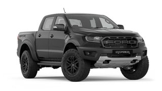 2019 Ford Ranger PX MkIII 2019.75MY Raptor Pick-up Double Cab Black 10 Speed Sports Automatic.