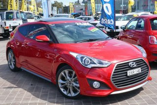 2016 Hyundai Veloster FS4 Series II SR Coupe D-CT Turbo + Red 7 Speed Sports Automatic Dual Clutch.