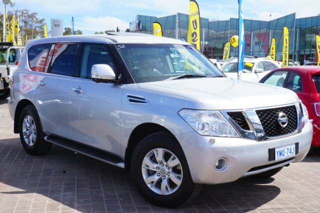 Used Nissan Patrol Y62 TI-L, 2013 Nissan Patrol Y62 TI-L Silver 7 Speed Sports Automatic Wagon