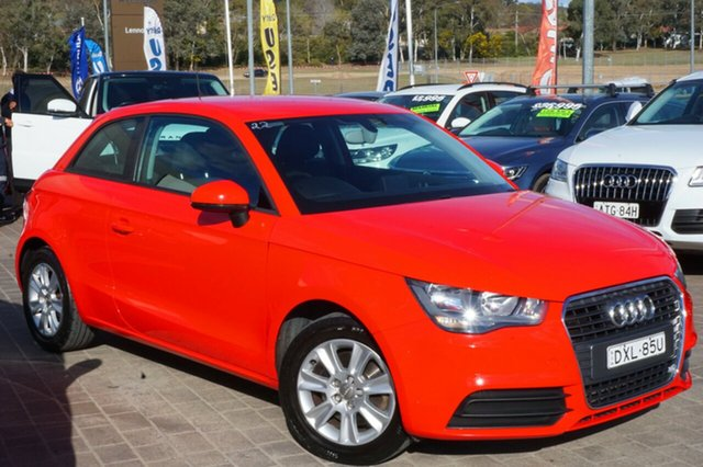Used Audi A1 8X MY11 Ambition S tronic, 2011 Audi A1 8X MY11 Ambition S tronic Red 7 Speed Sports Automatic Dual Clutch Hatchback