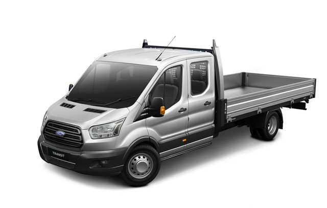 New Ford Transit VO 2018.75MY 470E Double Cab, 2018 Ford Transit VO 2018.75MY 470E Double Cab Frozen White 6 Speed Manual Cab Chassis