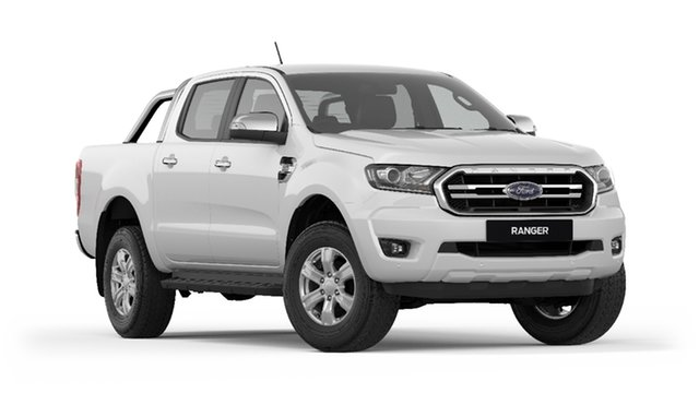 New Ford Ranger  XLT Pick-up Double Cab, 2019 Ford Ranger PX MKIII 2019.7 XLT Pick-up Double Cab Arctic White 10 Speed Sports Automatic