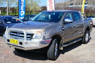 2014 Ford Ranger PX XLT Super Cab 4x2 Hi-Rider Gold 6 Speed Sports Automatic Utility.