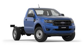 2019 Ford Ranger PX MkIII 2019.00MY XL 4x2 Blue Lightning 6 Speed Manual Cab Chassis.