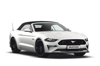 2018 Ford Mustang FN 2019MY GT SelectShift RWD Oxford White 10 Speed Sports Automatic Convertible.