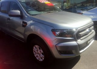2015 Ford Ranger PX MkII XLS 3.2 (4x4) Silver 6 Speed Automatic Dual Cab Utility.