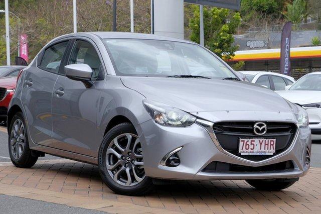 Demo Mazda 2 DJ2HAA GT SKYACTIV-Drive, 2018 Mazda 2 DJ2HAA GT SKYACTIV-Drive Aluminium 6 Speed Sports Automatic Hatchback