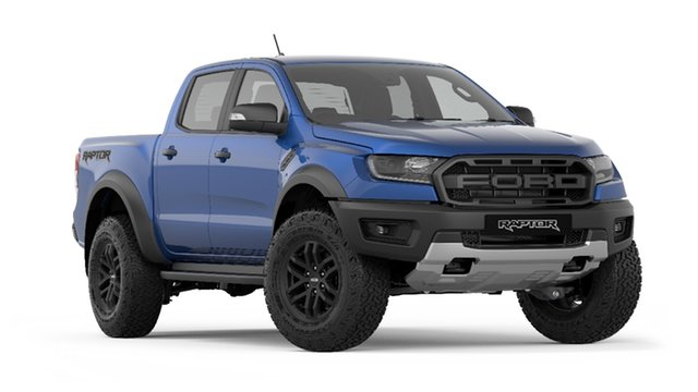 New Ford Ranger  Raptor Pick-up Double Cab, 2019 Ford Ranger PX MKIII 2019.7 Raptor Pick-up Double Cab Blue Lightning 10 Speed Sports Automatic
