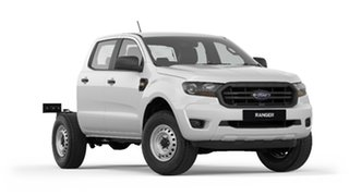 2018 Ford Ranger PX MkIII 2019.00MY XL Double Cab 4x2 Hi-Rider Frozen White 6 Speed Sports Automatic.