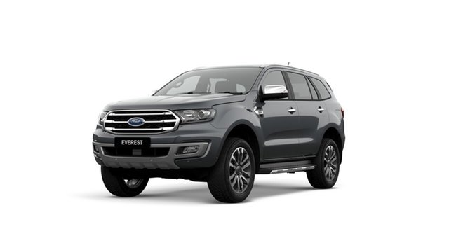 New Ford Everest UA II 2019.75MY Titanium 4WD, 2019 Ford Everest UA II 2019.75MY Titanium 4WD Meteor Grey 10 Speed Sports Automatic Wagon