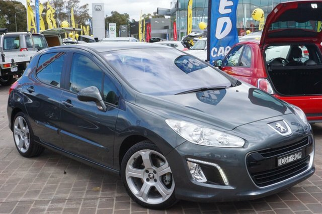 Used Peugeot 308 T7 MY12 Allure, 2012 Peugeot 308 T7 MY12 Allure Grey 6 Speed Sports Automatic Hatchback