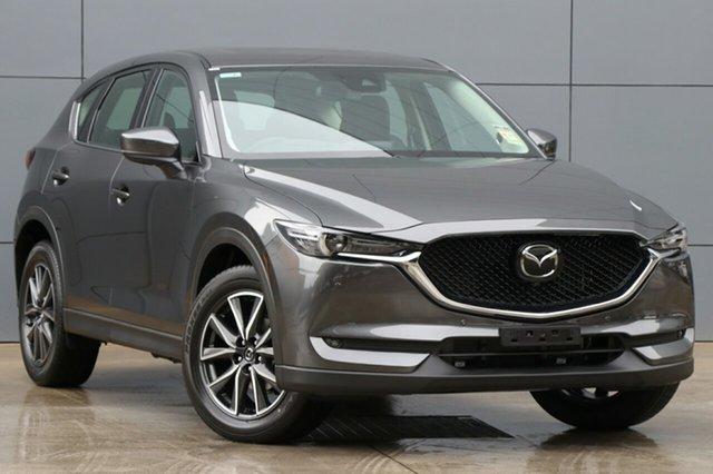 New Mazda CX-5 KF4WLA GT SKYACTIV-Drive i-ACTIV AWD, 2018 Mazda CX-5 KF4WLA GT SKYACTIV-Drive i-ACTIV AWD Machine Grey 6 Speed Sports Automatic Wagon