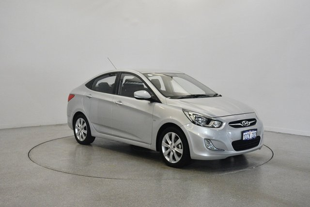 Used Hyundai Accent RB Elite, 2012 Hyundai Accent RB Elite Sleek Silver 4 Speed Sports Automatic Sedan