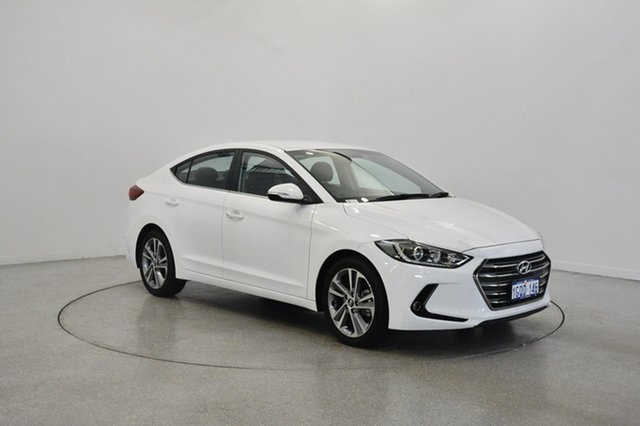 Used Hyundai Elantra AD MY17 Elite, 2015 Hyundai Elantra AD MY17 Elite White 6 Speed Sports Automatic Sedan