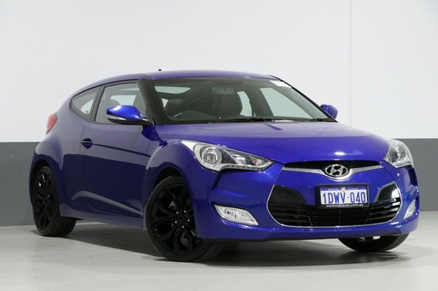 Used Hyundai Veloster FS , 2012 Hyundai Veloster FS Blue 6 Speed Manual Coupe
