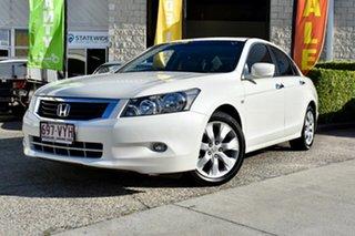 2010 Honda Accord 8th Gen MY10 VTi-L White 5 Speed Sports Automatic Sedan.