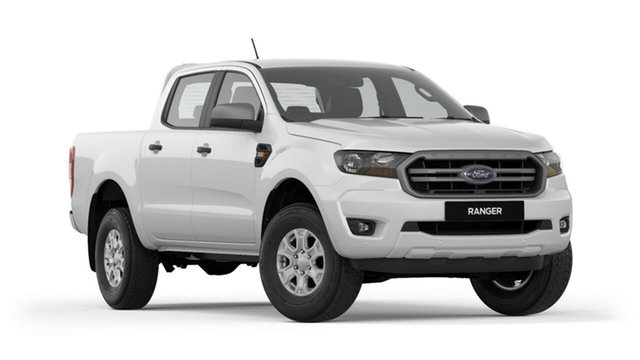 New Ford Ranger PX MkIII 2019.00MY XLS Pick-up Double Cab, 2018 Ford Ranger PX MkIII 2019.00MY XLS Pick-up Double Cab Frozen White 6 Speed Sports Automatic