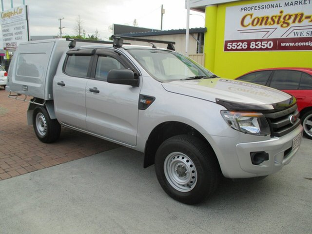 Used Ford Ranger PX XL Double Cab, 2012 Ford Ranger PX XL Double Cab Silver 6 Speed Sports Automatic Cab Chassis