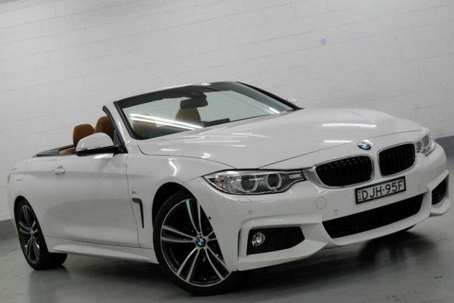 Used BMW 420i F33 M Sport, 2016 BMW 420i F33 M Sport White 8 Speed Sports Automatic Convertible
