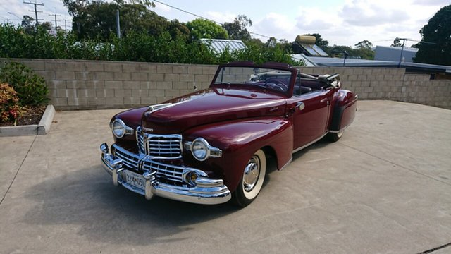 Used Lincoln Continental  , 1948 Lincoln Continental Cabriolet Maroon 3 Speed Manual Cabriolet
