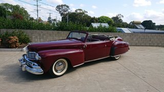 1948 Lincoln Continental Cabriolet Maroon 3 Speed Manual Cabriolet