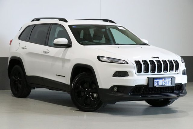 Used Jeep Cherokee KL MY15 Blackhawk (4x4), 2015 Jeep Cherokee KL MY15 Blackhawk (4x4) White 9 Speed Automatic Wagon