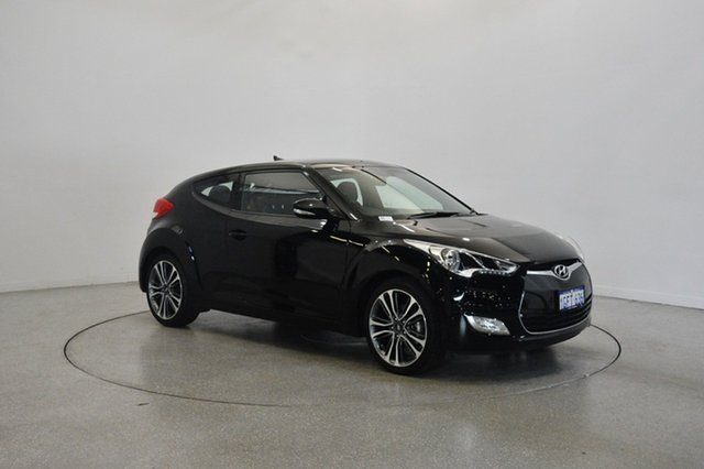 Used Hyundai Veloster FS5 Series II Coupe, 2016 Hyundai Veloster FS5 Series II Coupe Phantom Black 6 Speed Manual Hatchback