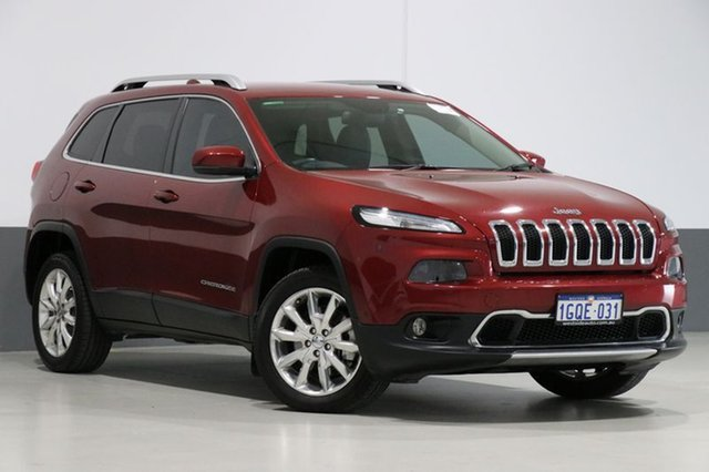 Used Jeep Cherokee KL MY15 Limited (4x4), 2015 Jeep Cherokee KL MY15 Limited (4x4) Cherry Red 9 Speed Automatic Wagon