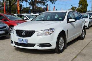 2013 Holden Commodore VF Evoke White 6 Speed Automatic Sportswagon.