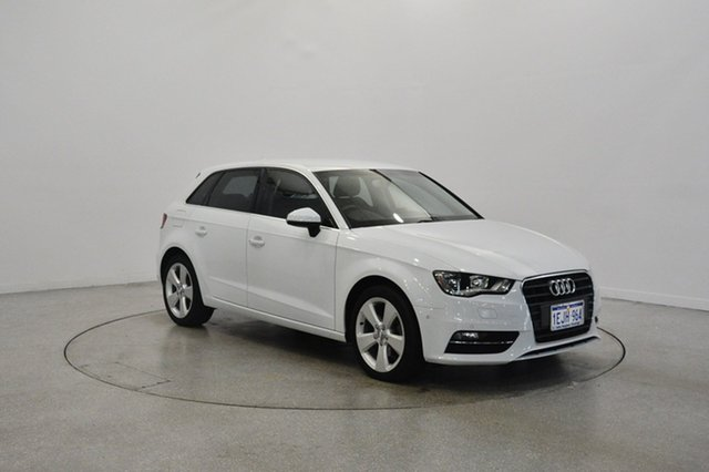 Used Audi A3 8V Ambition Sportback S tronic, 2013 Audi A3 8V Ambition Sportback S tronic White 6 Speed Sports Automatic Dual Clutch Hatchback