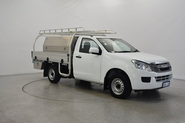 Used Isuzu D-MAX MY15 SX 4x2, 2015 Isuzu D-MAX MY15 SX 4x2 White 5 Speed Manual Cab Chassis