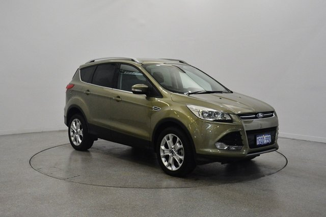 Used Ford Kuga TF Trend PwrShift AWD, 2014 Ford Kuga TF Trend PwrShift AWD Green 6 Speed Sports Automatic Dual Clutch Wagon