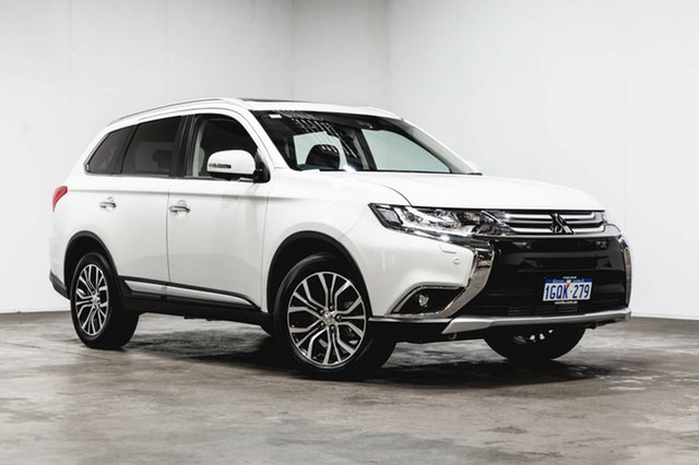 Used Mitsubishi Outlander ZL MY18.5 Exceed AWD, 2017 Mitsubishi Outlander ZL MY18.5 Exceed AWD White 6 Speed Sports Automatic Wagon