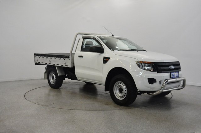 Used Ford Ranger PX XL 4x2 Hi-Rider, 2015 Ford Ranger PX XL 4x2 Hi-Rider Cool White 6 Speed Sports Automatic Cab Chassis