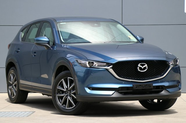 New Mazda CX-5 KF4WLA GT SKYACTIV-Drive i-ACTIV AWD, 2018 Mazda CX-5 KF4WLA GT SKYACTIV-Drive i-ACTIV AWD Eternal Blue 6 Speed Sports Automatic Wagon