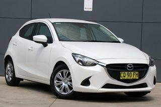 2018 Mazda 2 DJ2HAA Neo SKYACTIV-Drive Snowflake White 6 Speed Sports Automatic Hatchback.