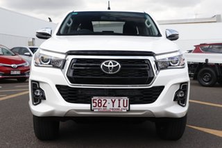 2018 Toyota Hilux GUN126R SR5 Double Cab Glacier White 6 Speed Sports Automatic Utility