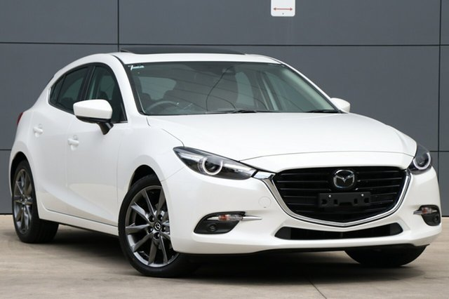 Used Mazda 3 BN5438 SP25 SKYACTIV-Drive Astina, 2018 Mazda 3 BN5438 SP25 SKYACTIV-Drive Astina White 6 Speed Sports Automatic Hatchback