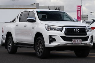 2018 Toyota Hilux GUN126R SR5 Double Cab Glacier White 6 Speed Sports Automatic Utility.